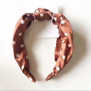 [Free w Purchase]H&M Satin Polka Dot Headband NWT